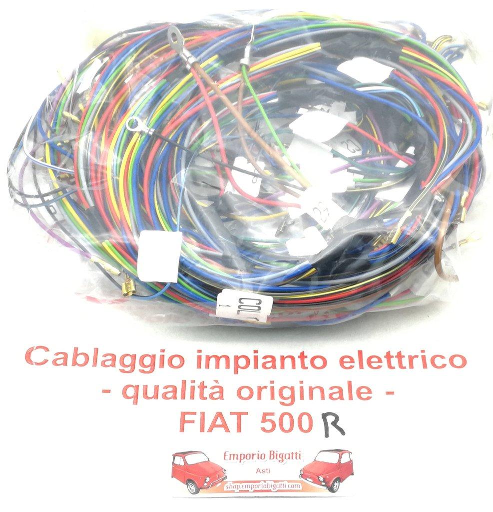 CABLAGGIO IMPIANTO ELETTRICO COMPLETO CAVI FILI FIAT 500 GIARDINIERA