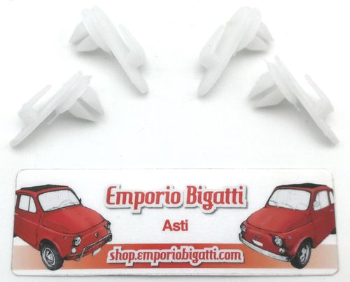 KIT 4 MOLLETTE FERMA PANNELLO IN PLASTICA FIAT 500