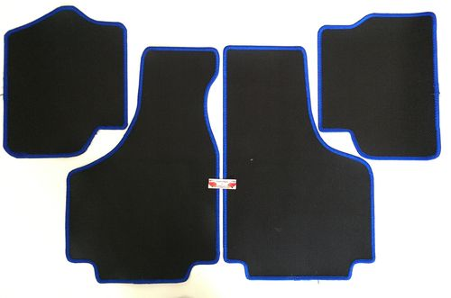 4 TAPPETI IN GOMMA BORDO BLU FIAT 500